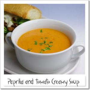 パプリカ(赤ピーマン)とトマトのスープ