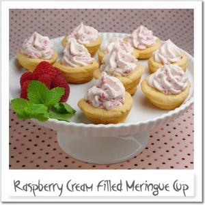 ラズベリークリームのメレンゲカップ