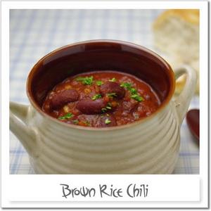 玄米のチリビーンズスープ