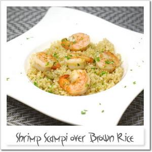 玄米のシュリンプ・スキャンピ