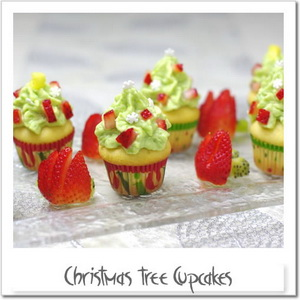 クリスマスツリー・カップケーキ