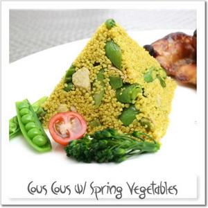 春野菜のクスクス、カレー風味