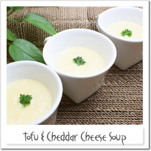 豆腐とチェダーチーズのスープ