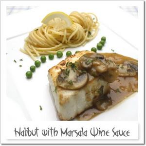 白身魚のソテー・マルサラワインソース、レモンパスタと共に