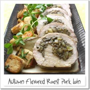 豚ヒレ肉のロースト、秋を詰めて
