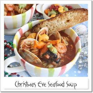 クリスマスイブ・7種の魚介のシーフードスープ