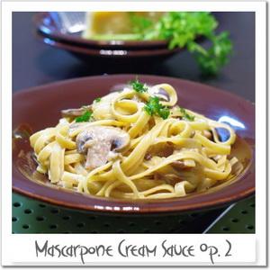 マスカルポーネソース変奏作品2番 ~ポルチーニ茸と数種のきのこ~