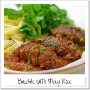 牛肉ともち米のブラショーレ