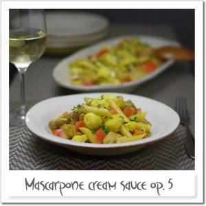 マスカルポーネソース変奏作品5番 ~鶏肉とカリフラワー、カレー風味~