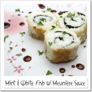 白身魚とミントのムニエル