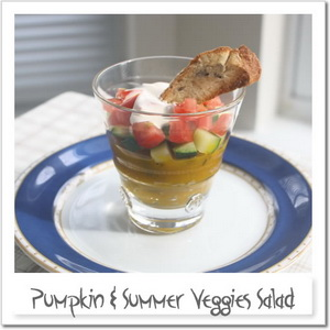 夏野菜のサラダ、パフェ仕立て