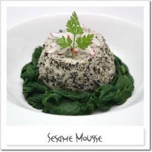 黒ゴマムースのサラダ